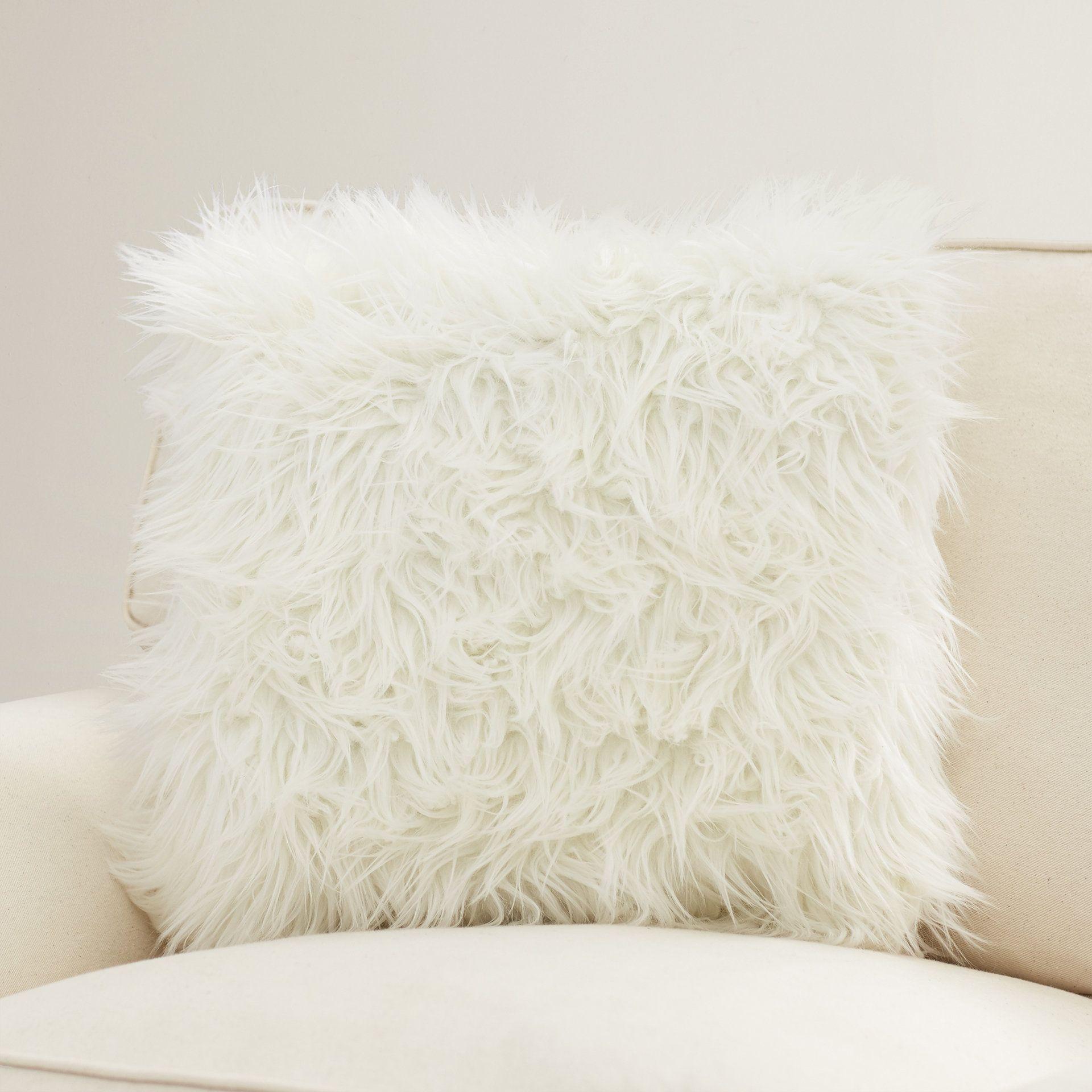 Rojas Faux Fur Throw Pillow