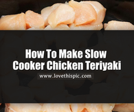 How To Make Slow Cooker Chicken Teriyaki