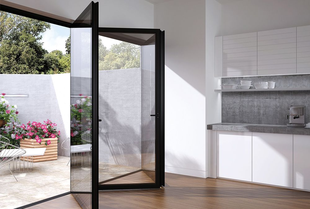 Flush Glazed, Frameless Glass Bi Fold With Aluminium | The Folding Sliding  Door Company
