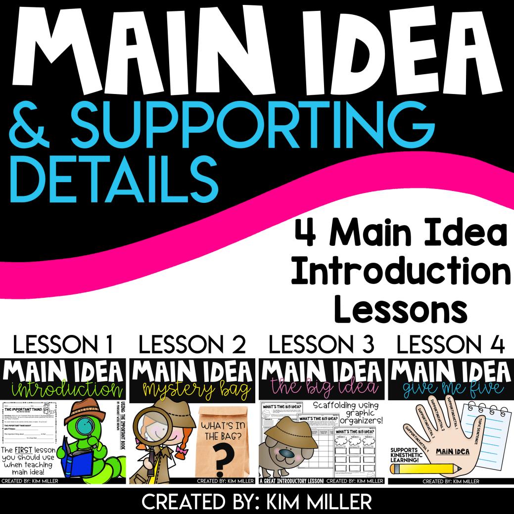 Main Idea 4 Lessons Bundle