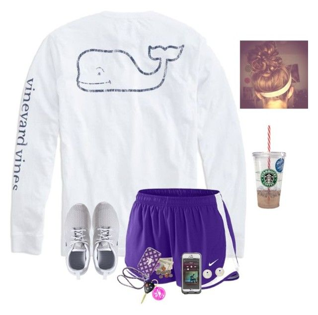 """""""Question of the day #19"""" by raquate1232 ❤ liked on Polyvore featuring NIKE, BaubleBar, Vera Bradley, LifeProof and Honora"""