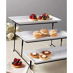 Wire 3 Tier Stand With Plates Tiered Stand 3 Tier Stand Buffet Display