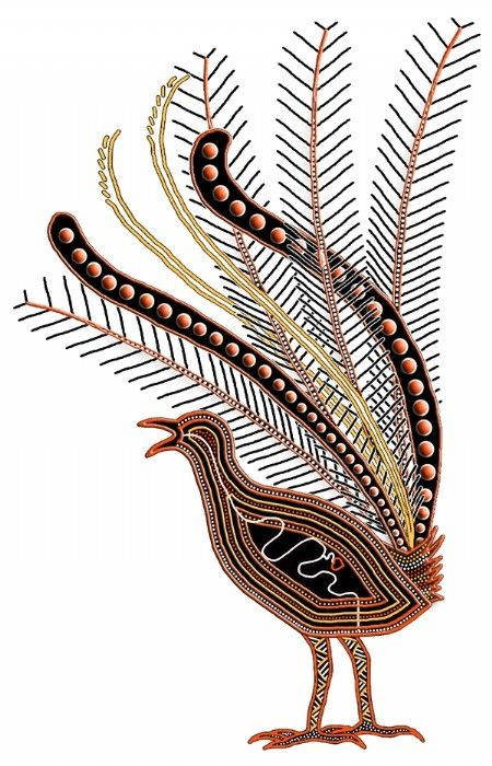 Australian Aboriginal art - Lyrebird | Art About Animals ...