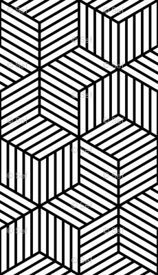 Wallpaper 01228590 Chevron 6 Bars Striped Cubes Graphic