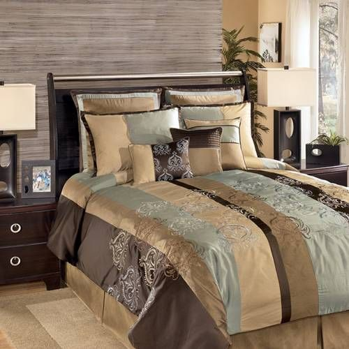 A Bold Striped Bedding Collection In Hues Of Chocolate