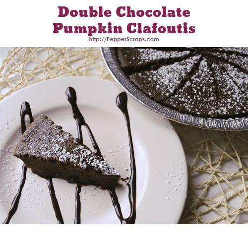 Double Chocolate Pumpkin Clafoutis recipe