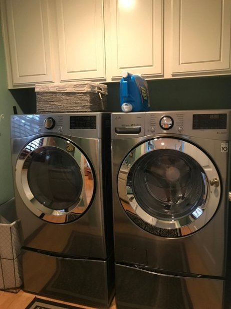 Washer And Dryer Bundles Package Lg 4 5 Cu Ft 12 Cycle Front Loading Smart Wi Fi Washer With Steam And 6motion T In 2020 Washer And Dryer Cool Things To Buy Washer