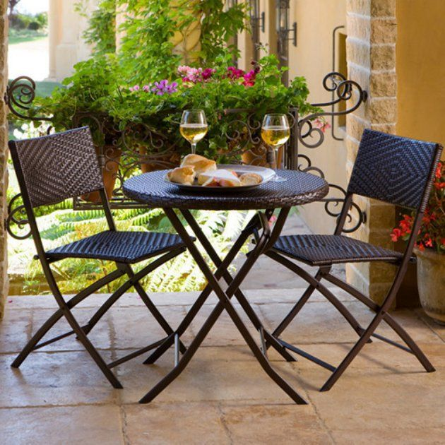 Rst Outdoor All Weather Woven Wicker Bistro Set Outdoor