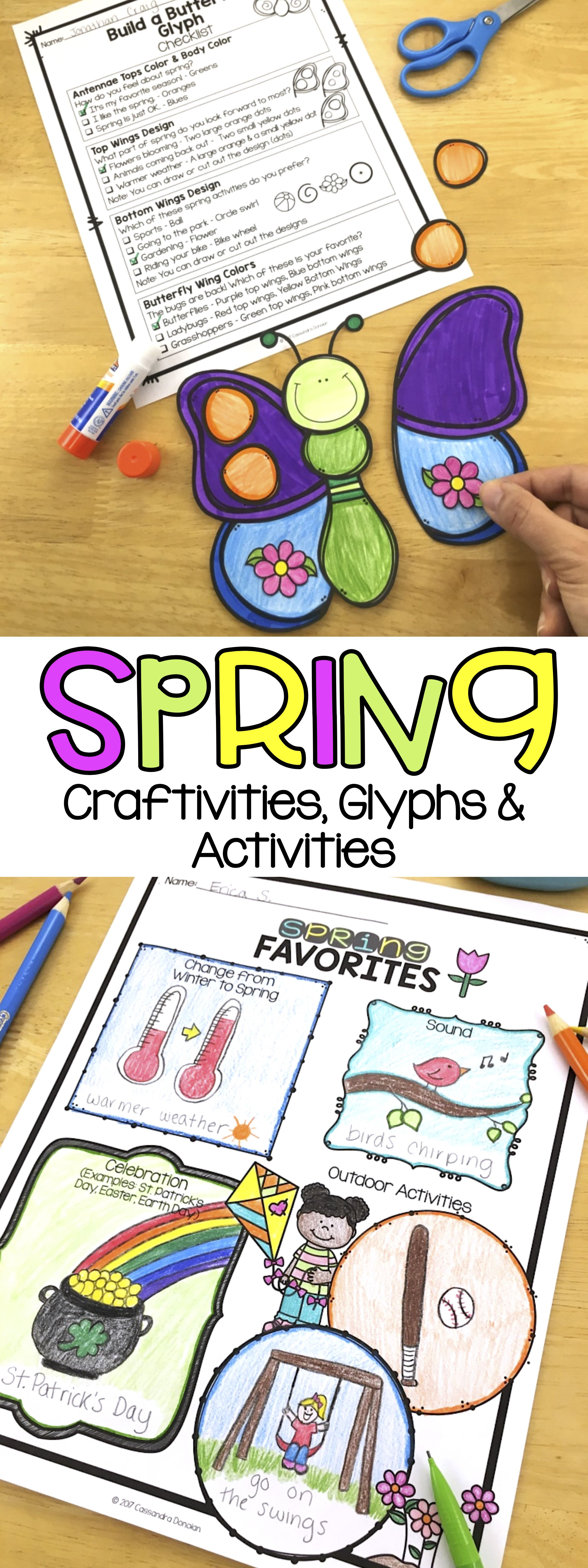 Spring Activities And Glyphs Spring Crafts Spring