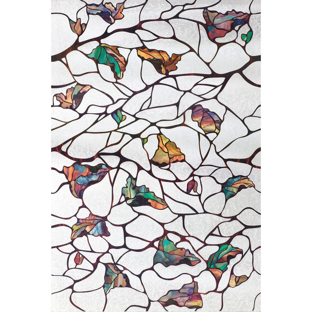 Artscape Oak Knoll 24 In X 36 In Window Film 02 3605 The Home Depot Stained Glass Window Film Artscape Decorative Window Film