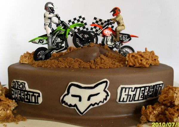 Terrific Motorcross Bike Cakes Birthday Cards Printable Trancafe Filternl