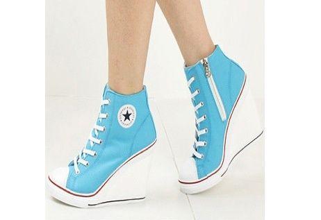 116846672ae771 Converse Wedge Heels....in blue....  D