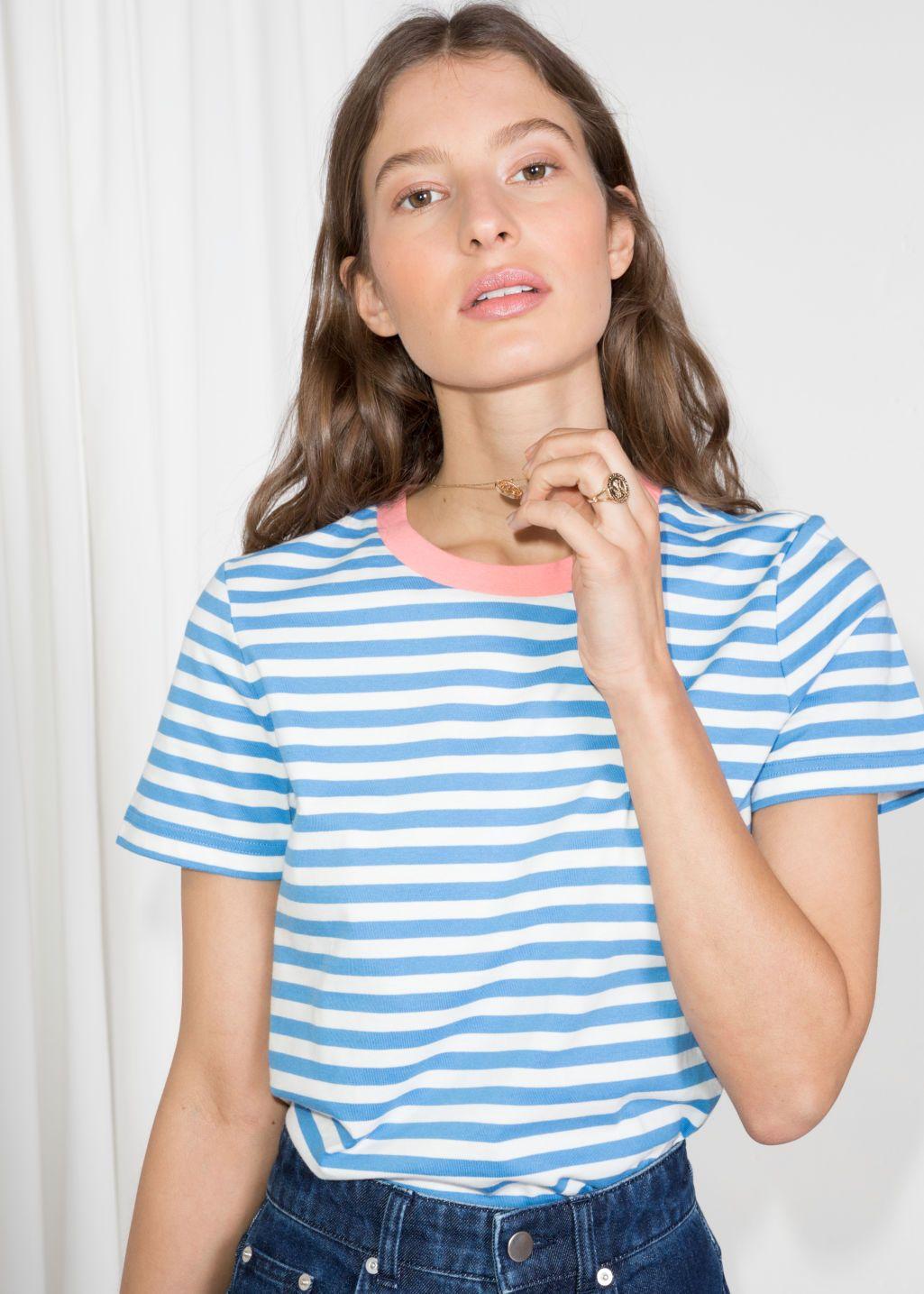 7cbd4dfc707bdb Striped Tee in 2019 | Stripes! | Striped tee, Stripes fashion, Tees