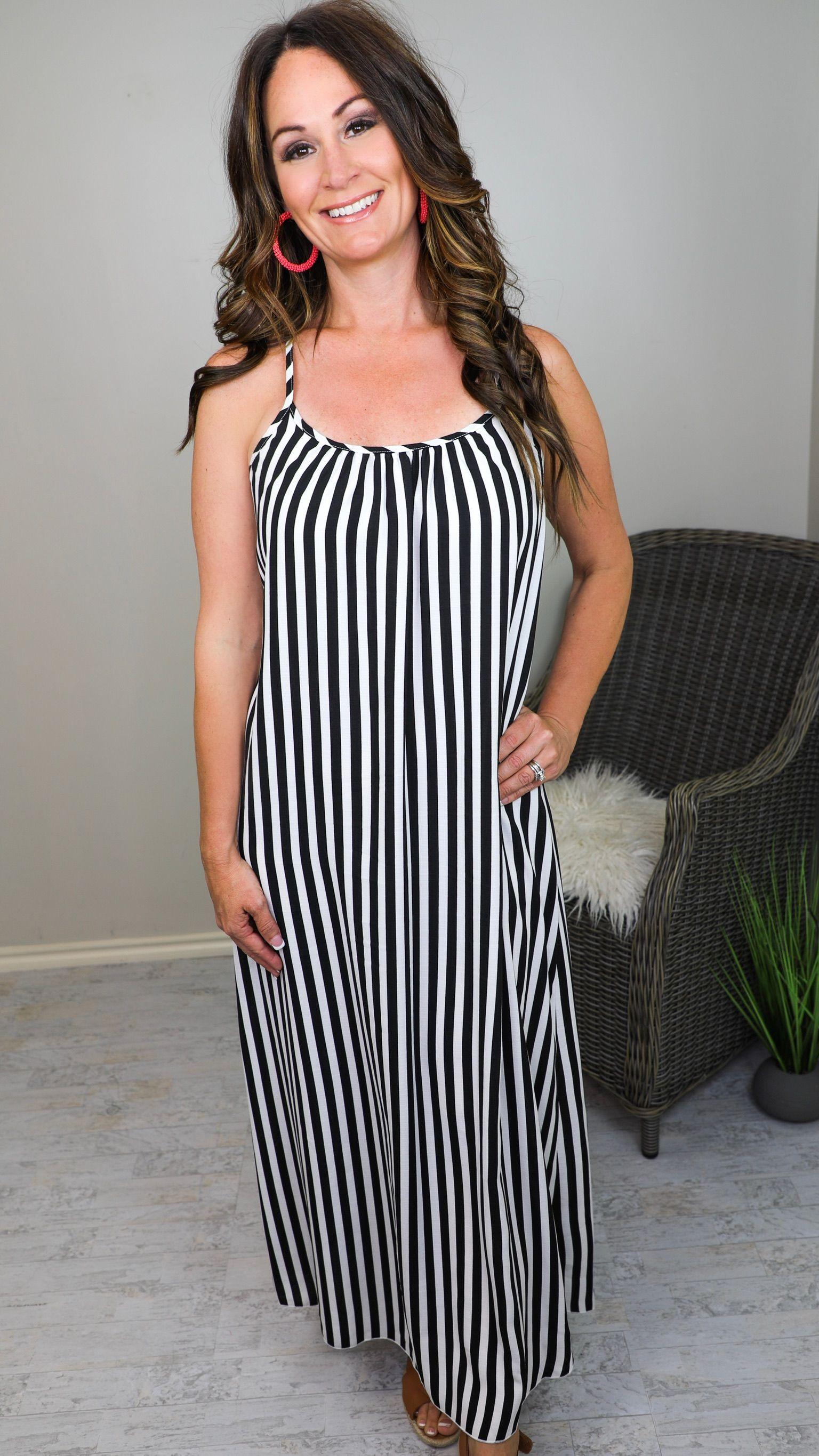 Black White Vertical Striped Maxi Dress Vertical Striped Maxi Dress Dresses Maxi Dress [ 2731 x 1536 Pixel ]