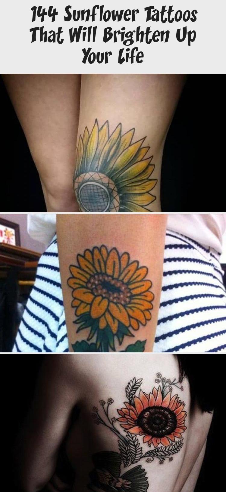 Photo of 144 Sunflower Tattoos That Will Brighten Up Your Life | Sunflower Tattoo hippie …