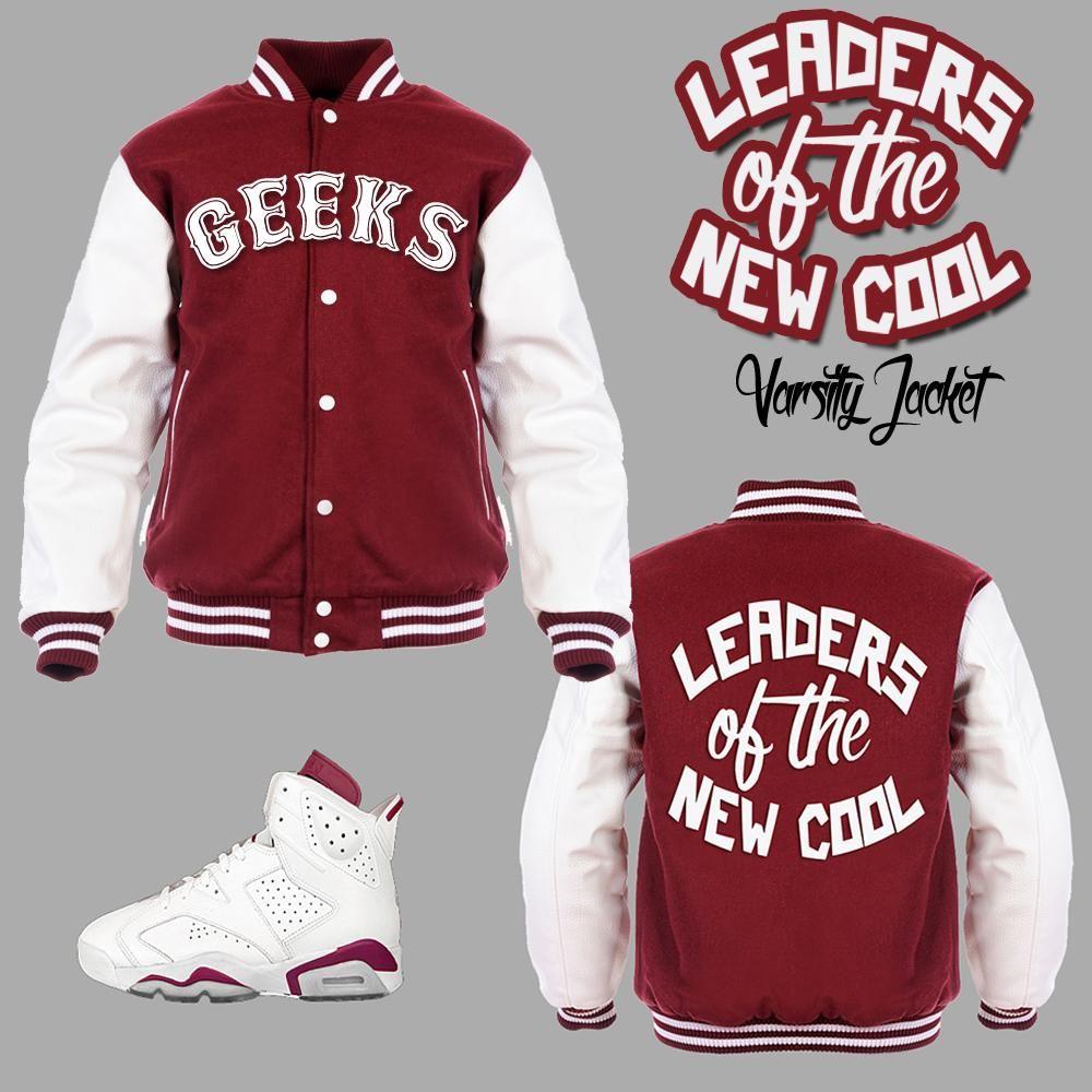 48d4ae13132 ... Hooded Varsity Jackets to match your sneakers. SneakerGeeks Clothing:  Streetwear to match Jordans, Retro Jordans, Nike, Lebrons, Foamposite Pro,  ...