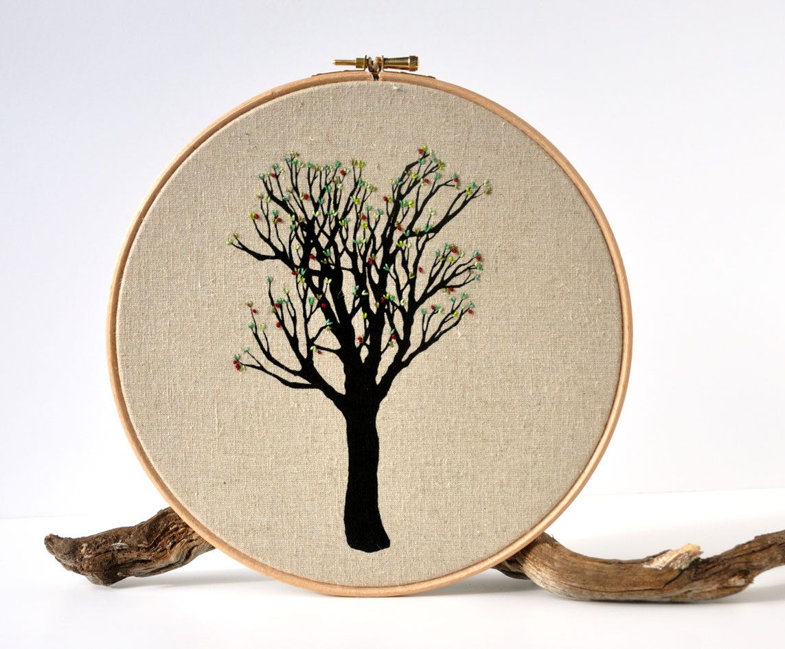 Rio de mels tree cherry tree embroidery hoop art 6000 via rio de mels tree cherry tree embroidery hoop art 6000 via etsy bankloansurffo Choice Image