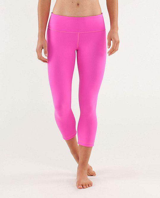 6b41349452 Hot pink @lululemon athletica athletica Wunder Under Crops << Yes please!