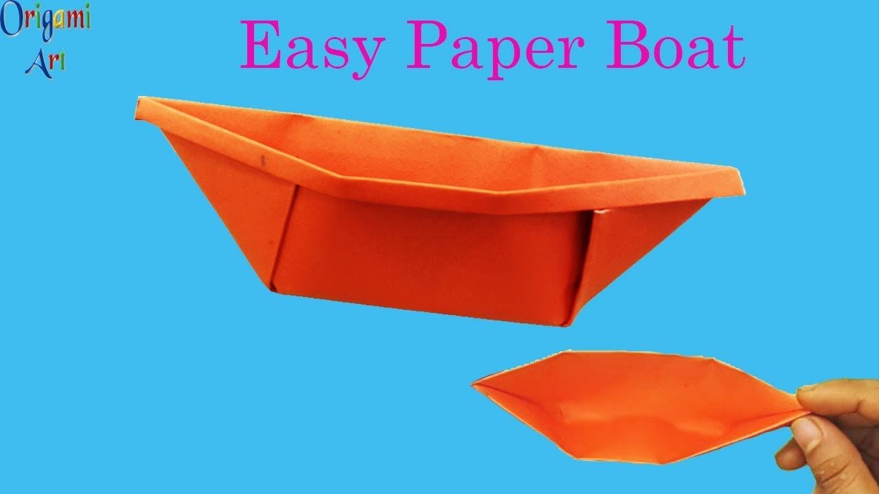 How To Make Paper Boat Easy Origami Simple Crafts For Kids