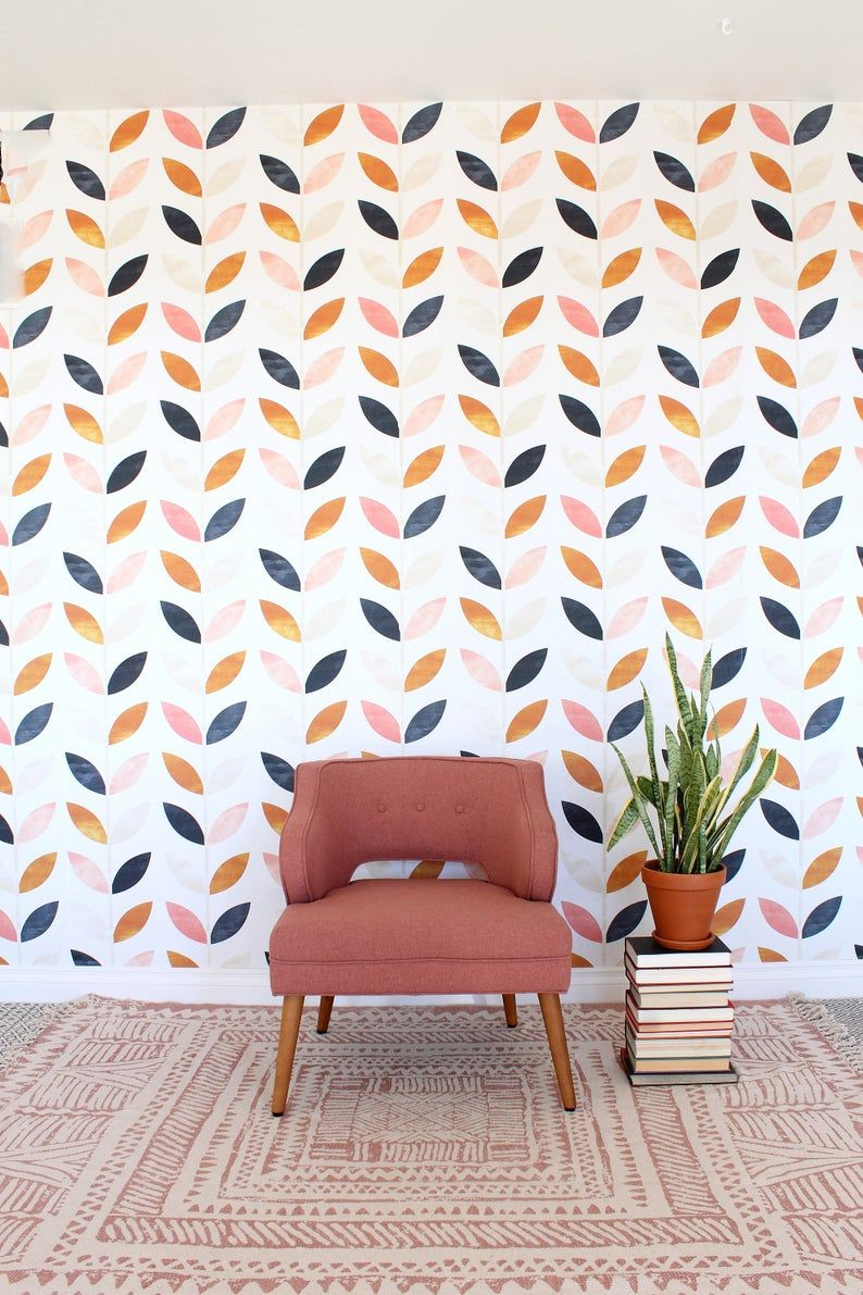 Scandinavian Style Pattern Vintage Wallpaper Self Adhesive Wall Mural Wall Covering 60 Decoracao De Parede Paredes Grandes Decoracao