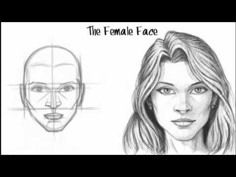 Resim Dersi Kadın Yüzü çizme Karalaem çalış Videoları 5