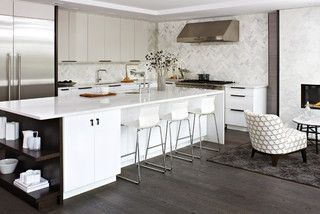 Modern White Kitchen   Modern   Kitchen   Toronto   By Croma Design Inc