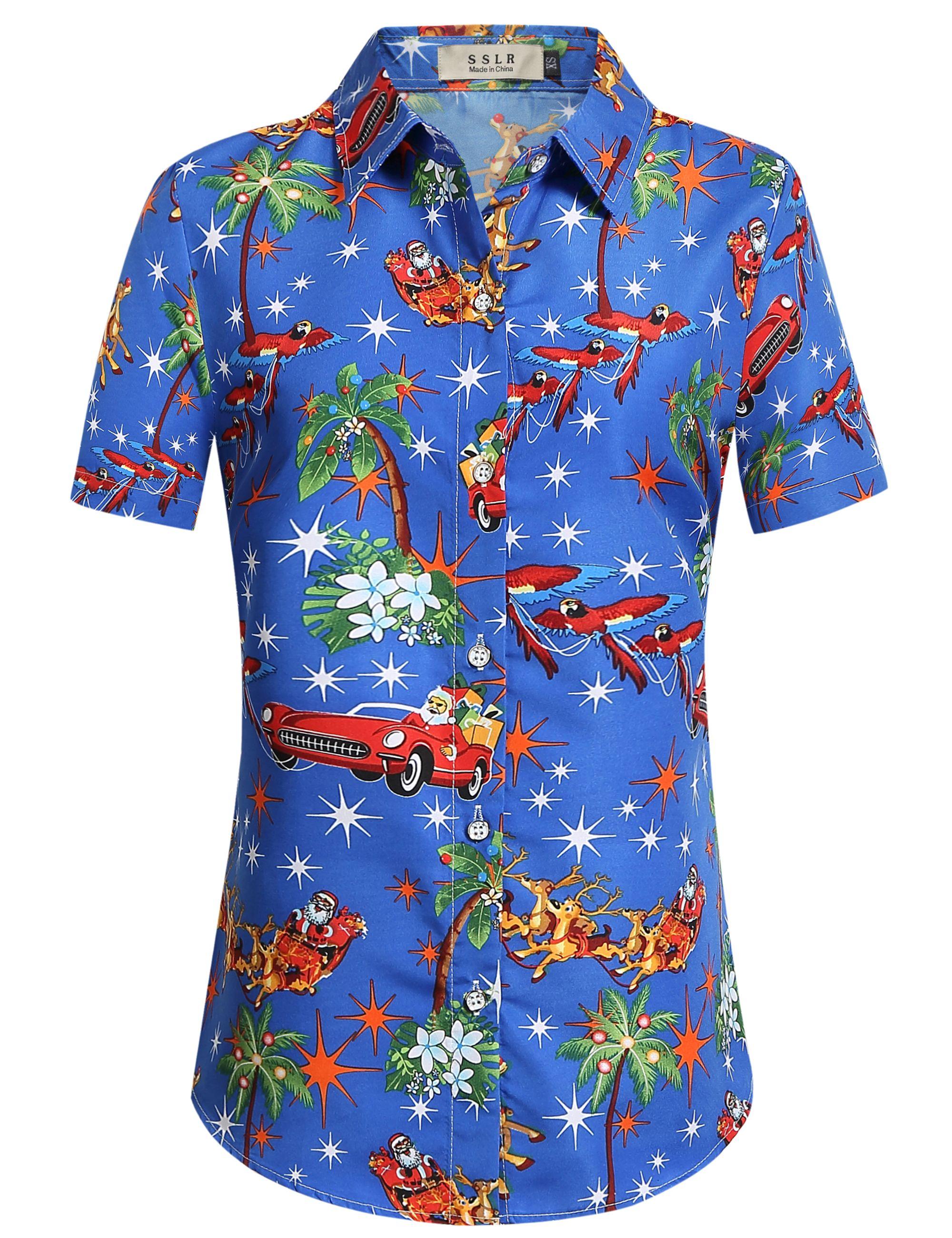 0a412ac7 SSLR Men's Santa Claus Holiday Party Hawaiian Ugly Christmas Shirt (Small,  Black) | Hawaiian Christmas Party | Christmas shirts, Christmas hawaiian  shirts, ...