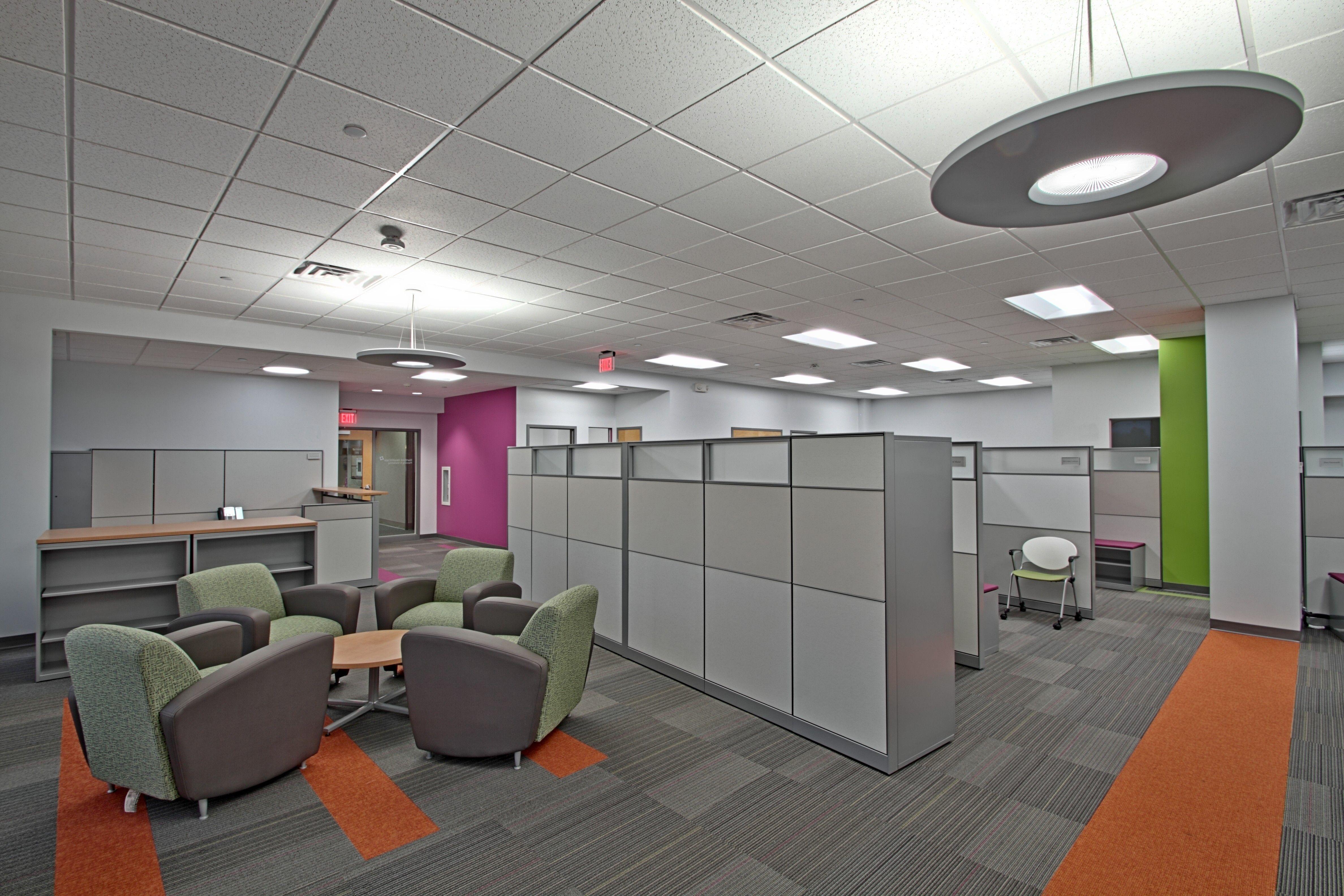 Hartford Hospital Marketing and Planning Department Renovation - in Newington, CT #smalloffice #commercialspaces #commercialinteriors #design #flooring