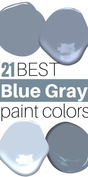 21 Best Blue Gray paint colors