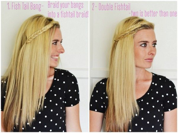 6 ways to pull back your bangs