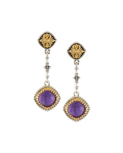 Konstantino Erato Floral Amethyst Doublet Drop Earrings dwh7ZW7Lp