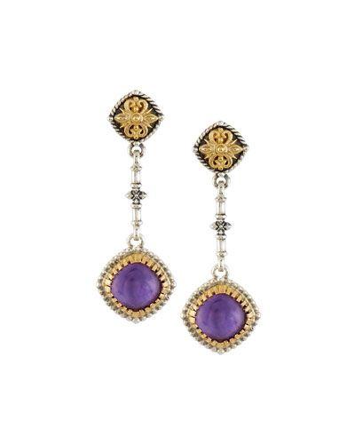 Konstantino Erato Floral Amethyst Doublet Drop Earrings dwh7ZW7Lp