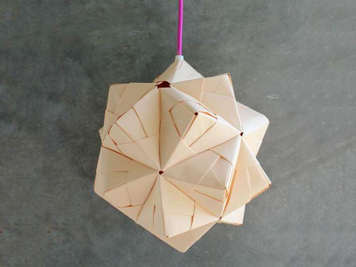 Lampada Origami Istruzioni : Diy anleitung sonobe ball lampe falten origami diy tutorial