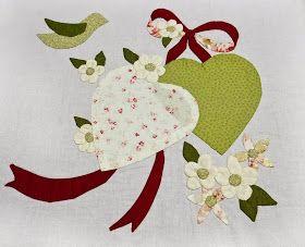 applicatie vintage Valentino quilt