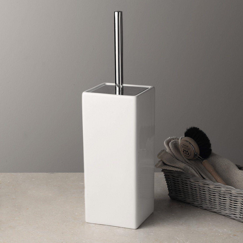 Newcombe Ceramic Toilet Brush Holder | Brush holders, White company ...