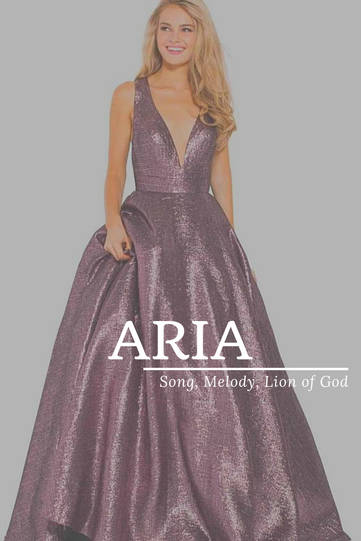 Aria, meaning Song, Melody, Lion of God, modern names, popular names, A baby gir...