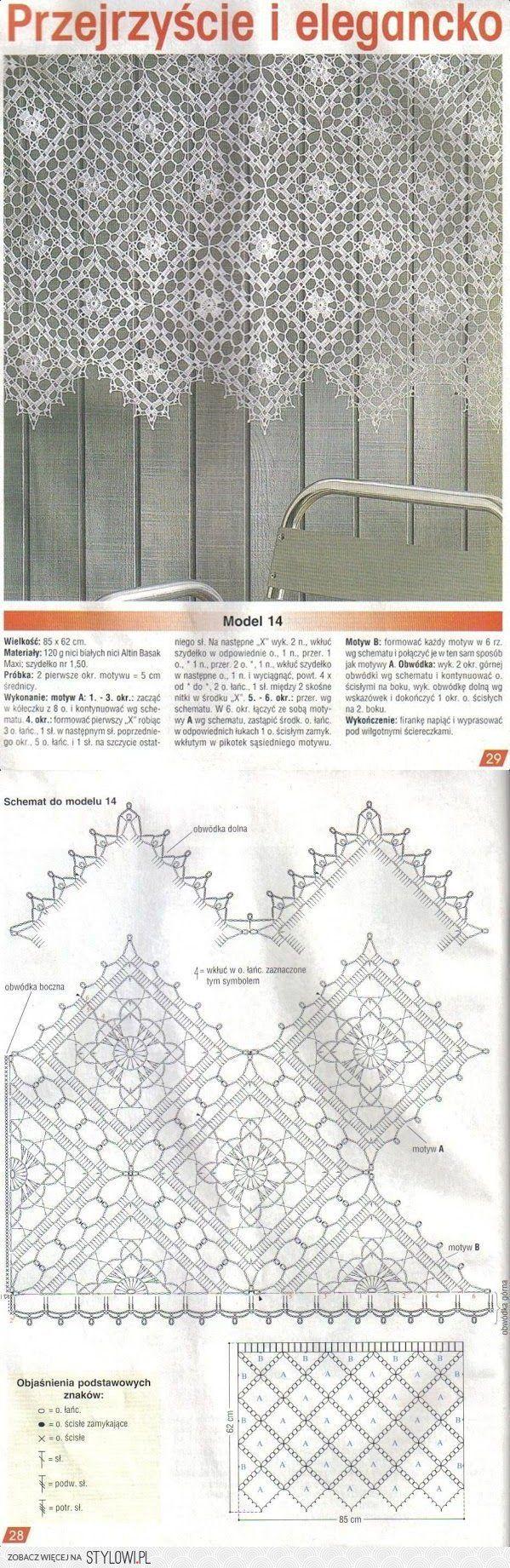 firanki / szydełko na Stylowi.pl | Ventanas | Pinterest | Cortinas ...