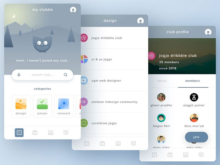 Clubbb | Design centré utilisateur, Appli