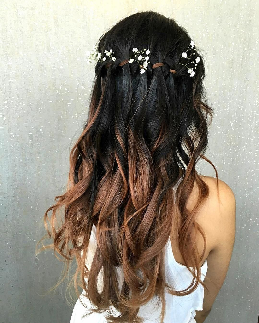 waterfall braid thin hair, waterfall braiding, waterfall