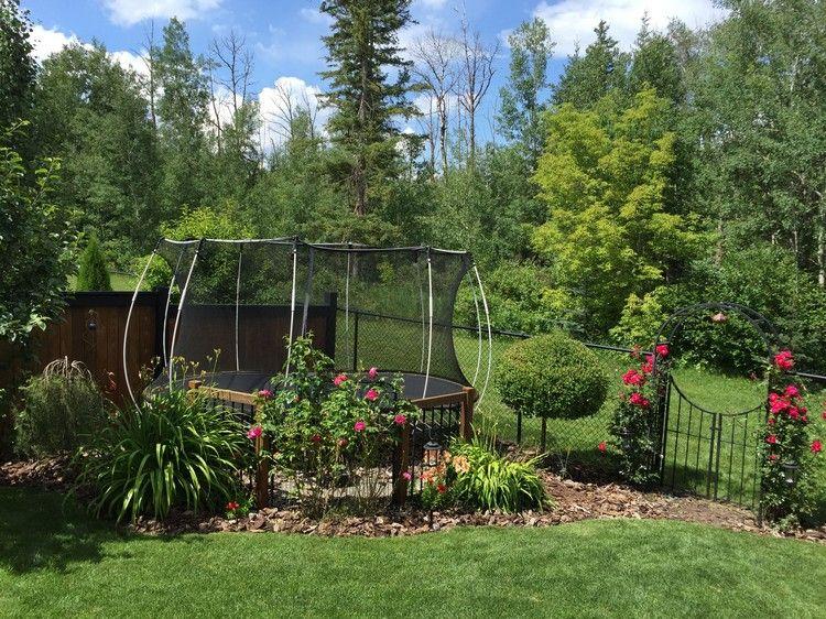 Gartenecke Interessant Gestalten Trampolin Kinder Garden Green Gartenecke Gartengestaltung Garten Design