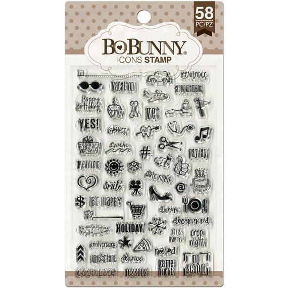 Calendar Stamp Bullet Journal : Bobunny icon planner stamps clear cling stamp