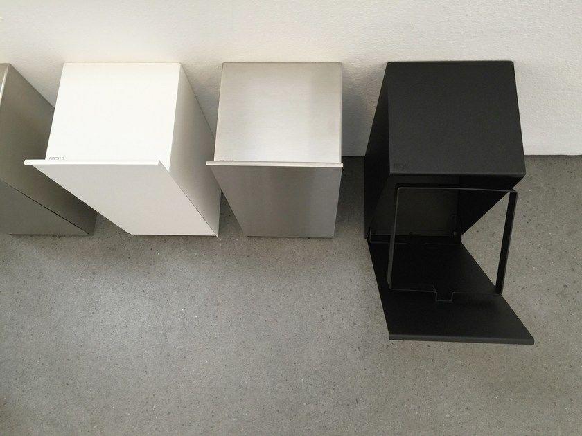 Stainless Steel Bathroom Waste Bin Franz By Mg12 Design Monica