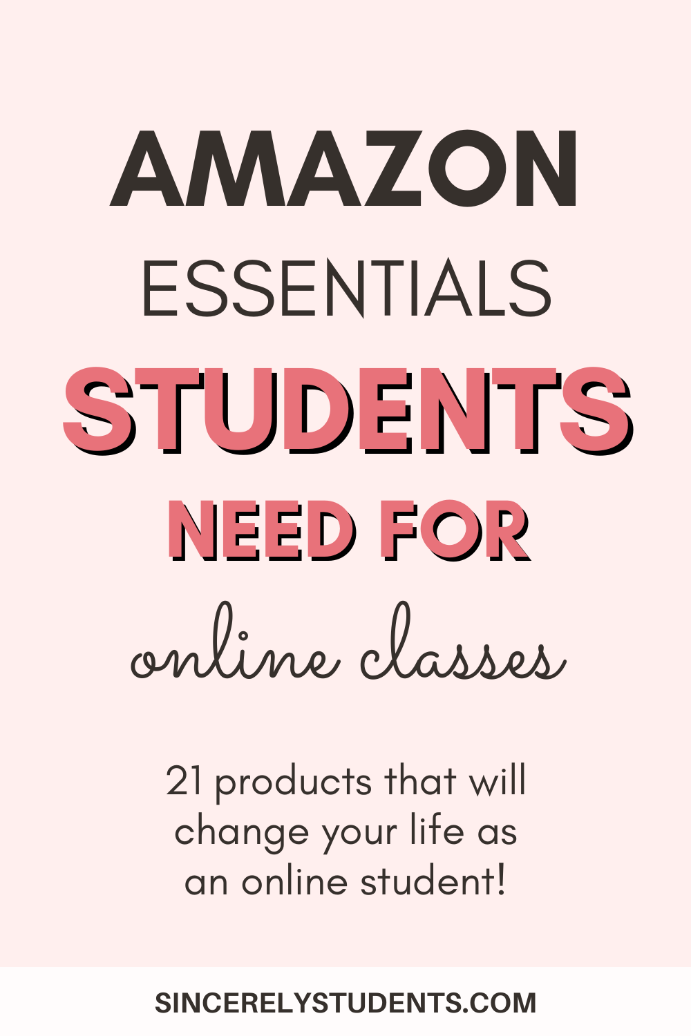 Check out these 21 life-changing products from Amazon that will make online classes a breeze to survive and thrive in! Ace your online classes and become healthier and happier with these tools! #Amazon #onlineclass