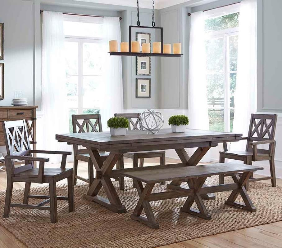 Foundry Six Piece Rustic Dining Set With Bench By Kincaid
