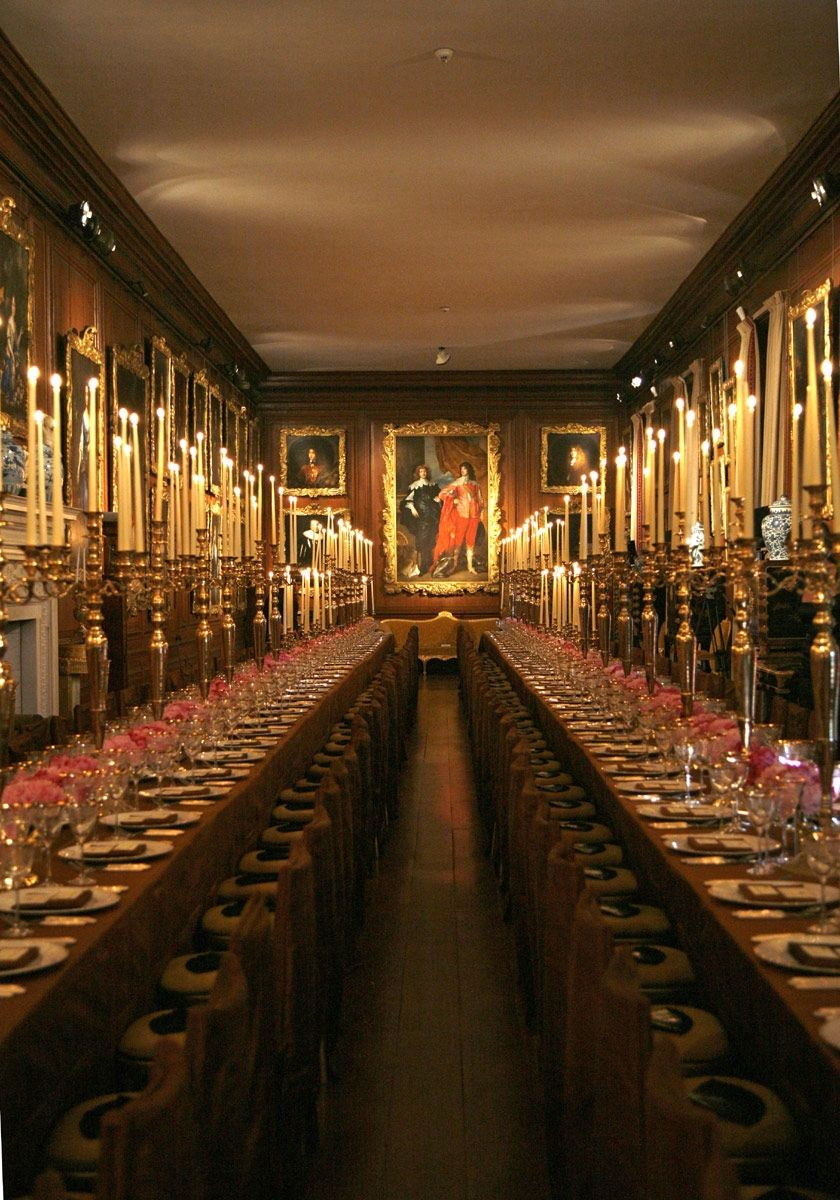 English Country House Dining Room: ALTHORP...The Picture Gallery2