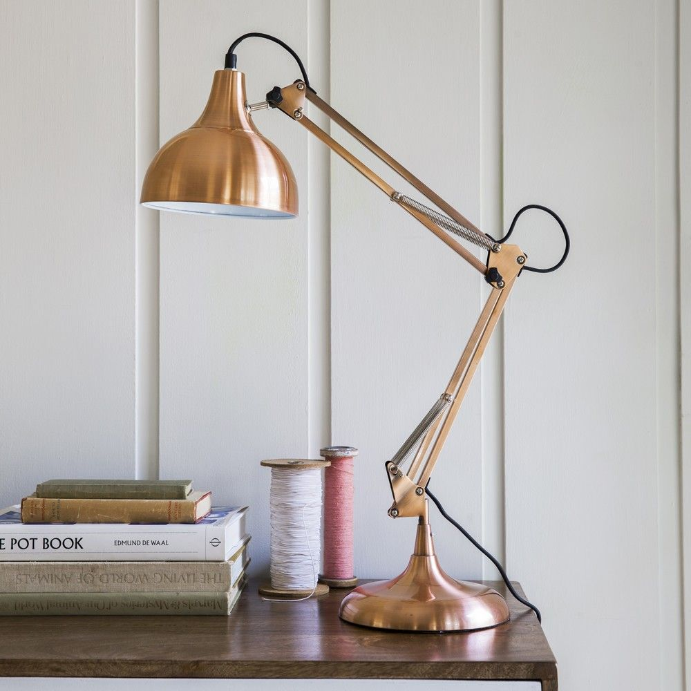 Hettie angled table lamp in copper illumination pinterest hettie angled table lamp in copper aloadofball Image collections