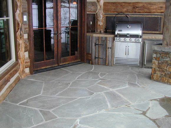 Pioneer Blue Flagstone From Pine S Stone Co Flagstone