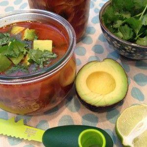35 Minute Chipotle Chicken Soup (Gluten Free & Paleo Recipe) and more paleo chicken soup recipes on MyNaturalFamily.com #paleo #chicken #recipe