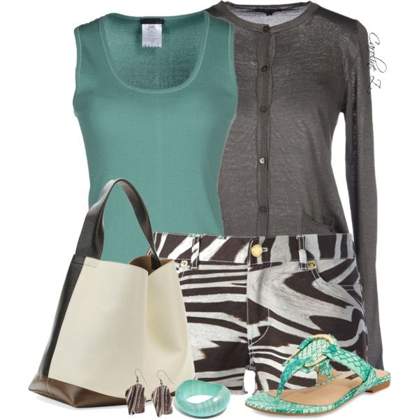 """""""Flat Sandals and a Tote Bag"""" by carolinez1 on Polyvore"""