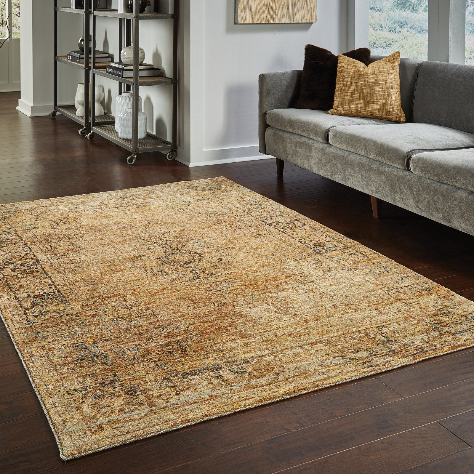 Oriental Weavers Andorra 6845d Gold Brown Area Rug With Images